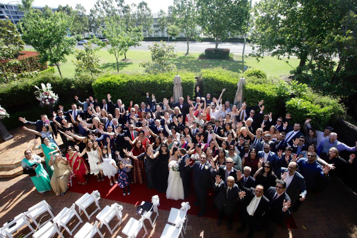 Jess-and-tim-wedding-guests-aerial-shot
